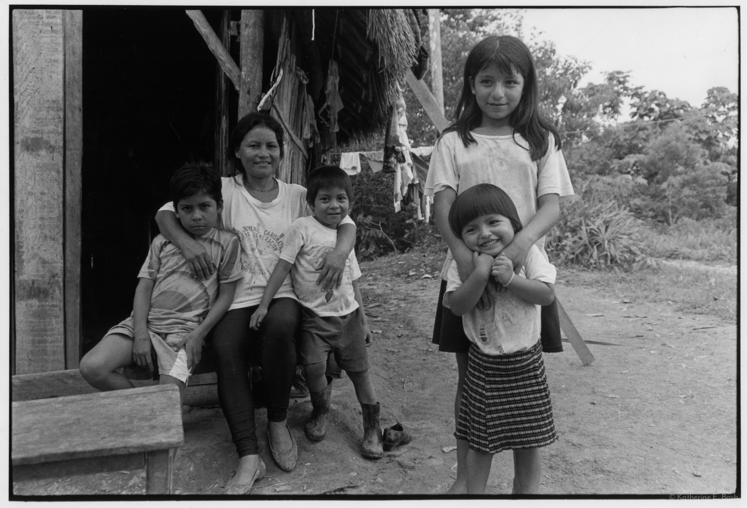 Together in the Late Afternoon , Quichua, Canelos, Pastaza, Oriente Ecuador, Amazonia, 1999