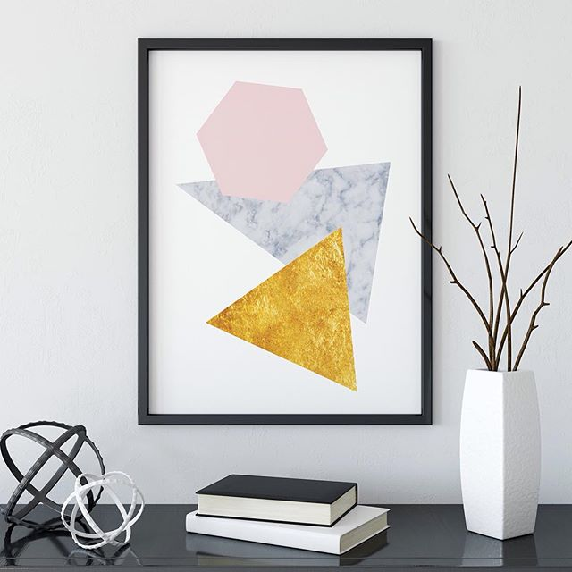 A modern gold and marble print to decorate your home ! 🏡