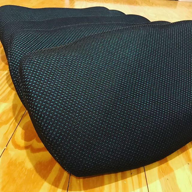 The premium technical knit fabric we use on our Fehn seats is manufactured in the USA using 100% recycled material including plastic bottle caps.  We are proud to work with innovative suppliers who are paving the way in sustainable engineering, design, and manufacturing!