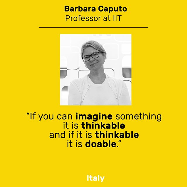 Start with imagination on this lazy Sunday morning ✨. Quote from one of our Inspiring Fifty Italy winners: Barbara Caputo.  #InspiringFifty #Inspire #Imagine #Think #Do #Female #Tech