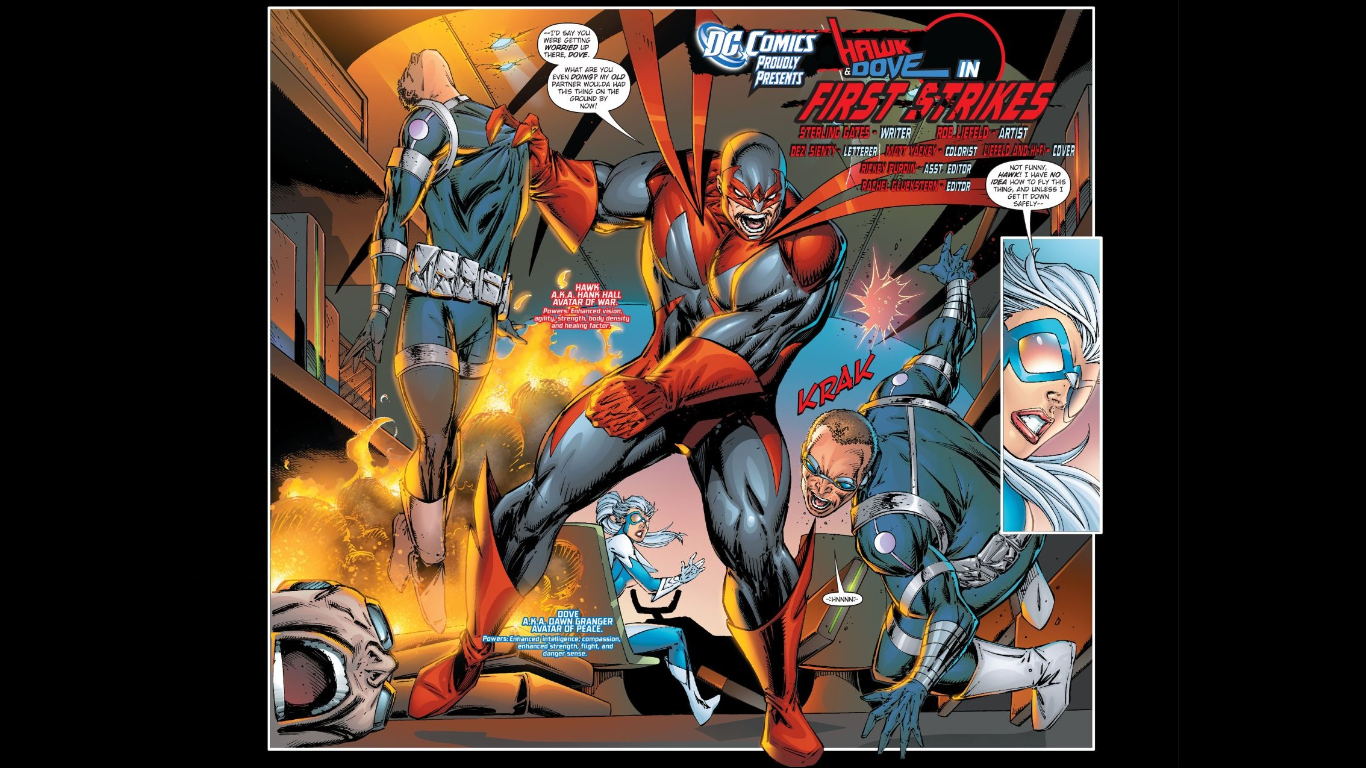 Hawk and Dove #1 drawn by Rob Liefeld