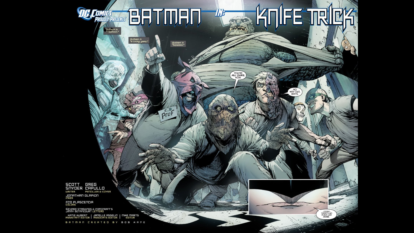 Batman #1 drawn by Greg Capullo