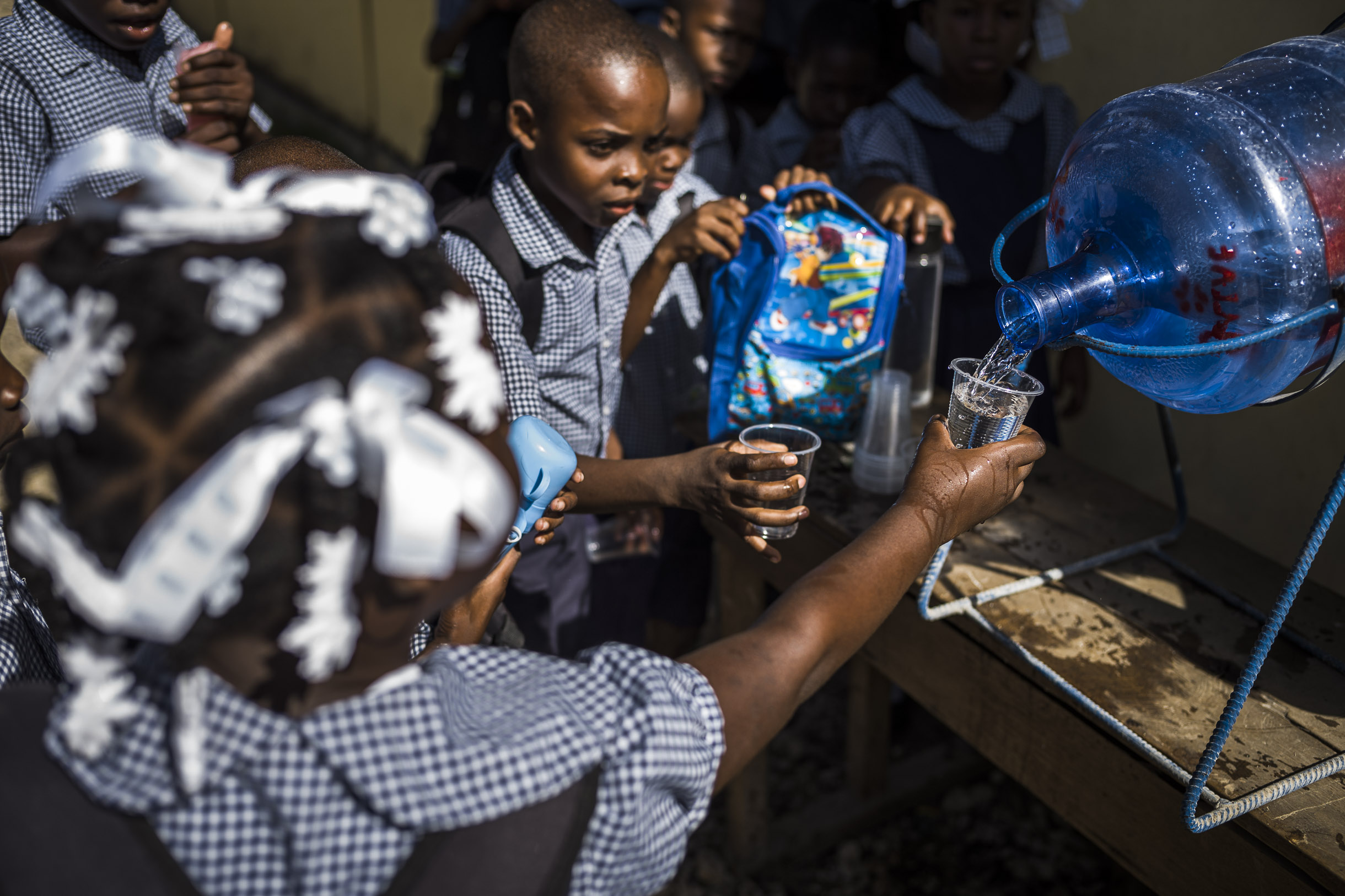 dlohaiti's infrastructure provide local institutions such as schools with safe water. Photo Credit: Sandro di Carlo Darsa