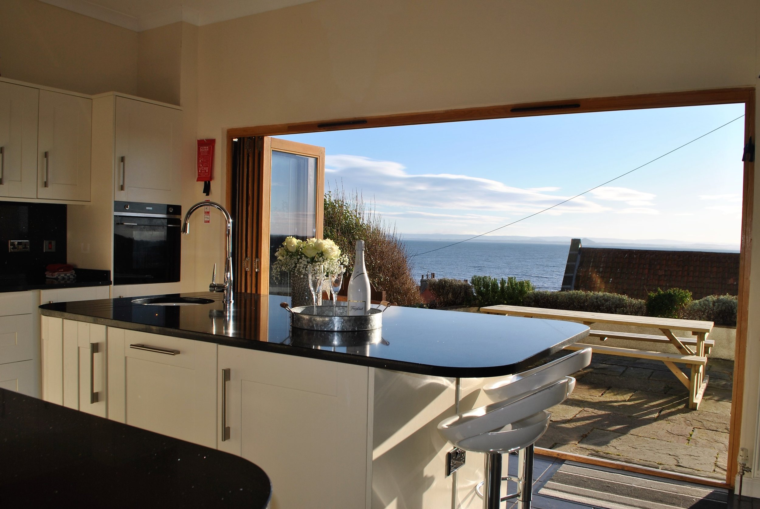 The stunning views from the dining kitchen