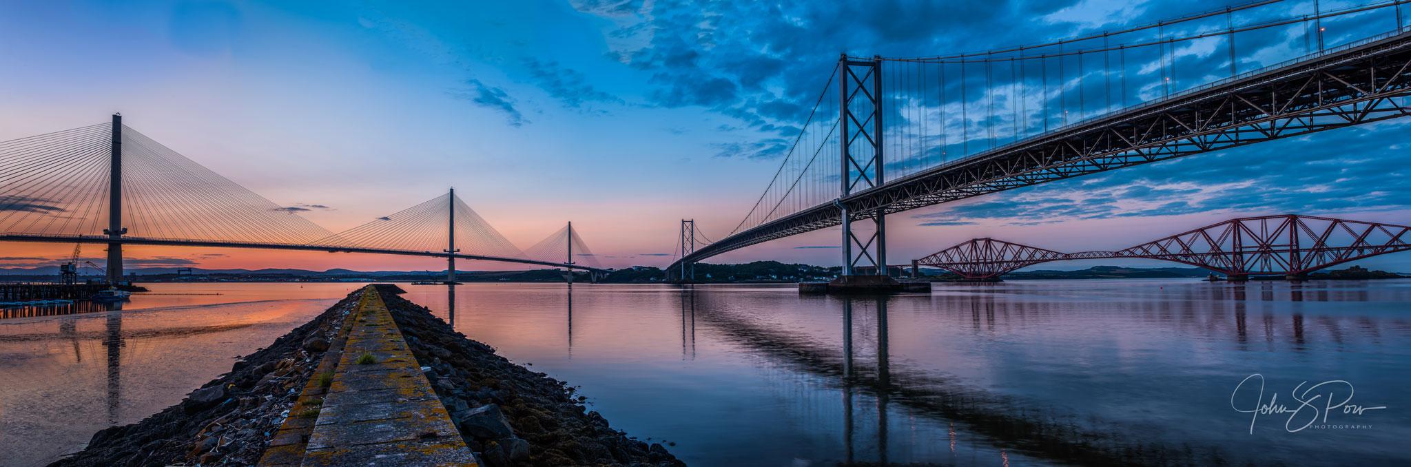 Three Bridges at Sunset.