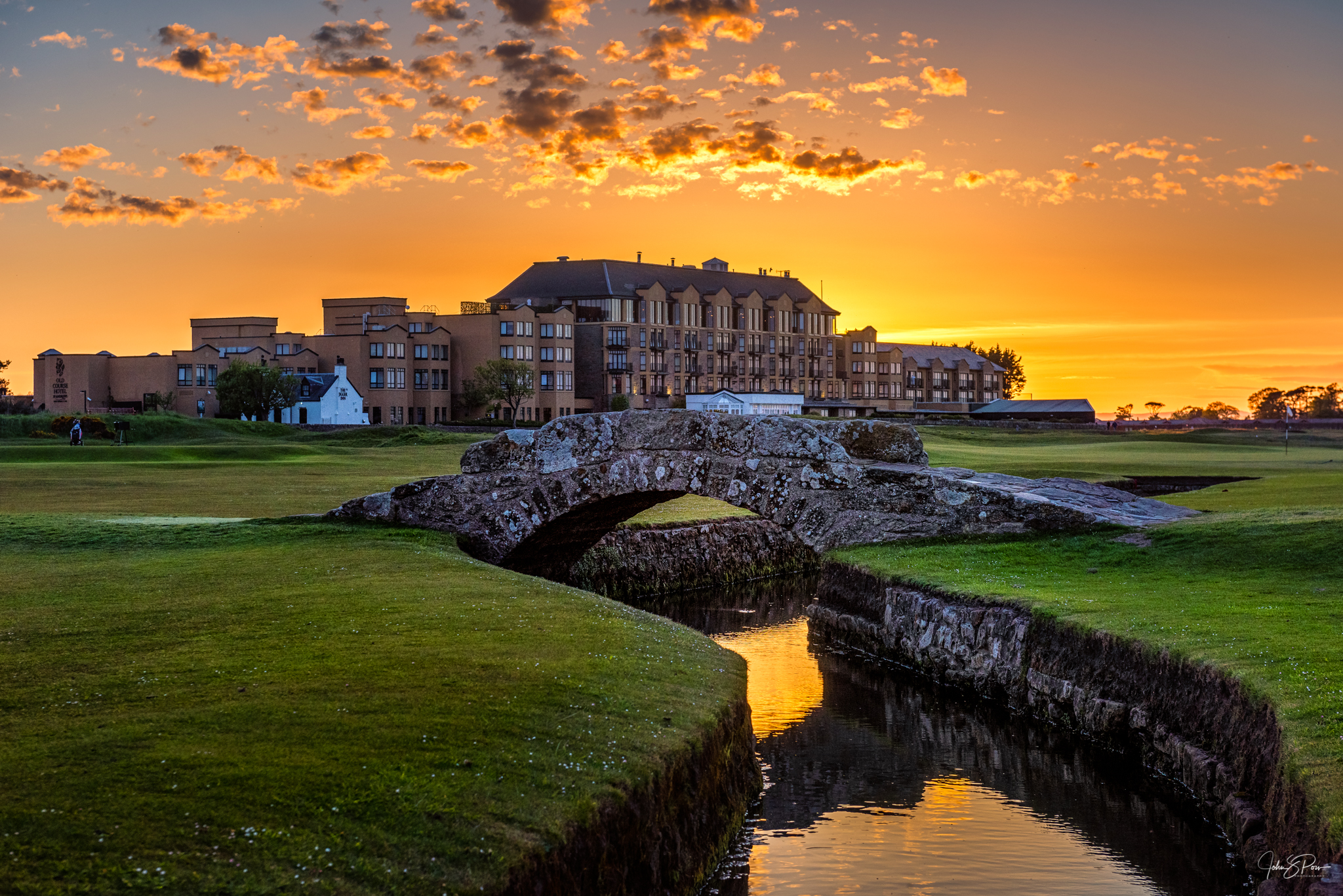 The Swilken Bridges and Old Course Hotel, St. Andrews