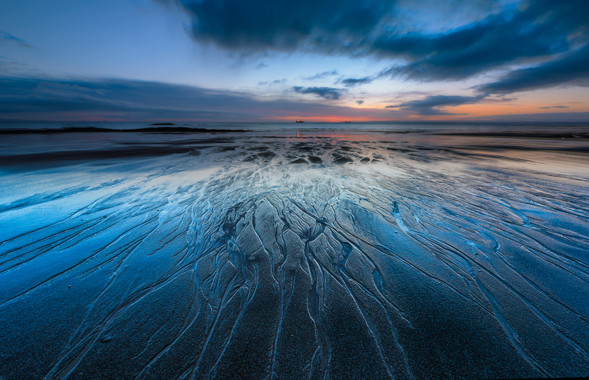 Seafield Beach, Kirkcaldy during Blue Hour