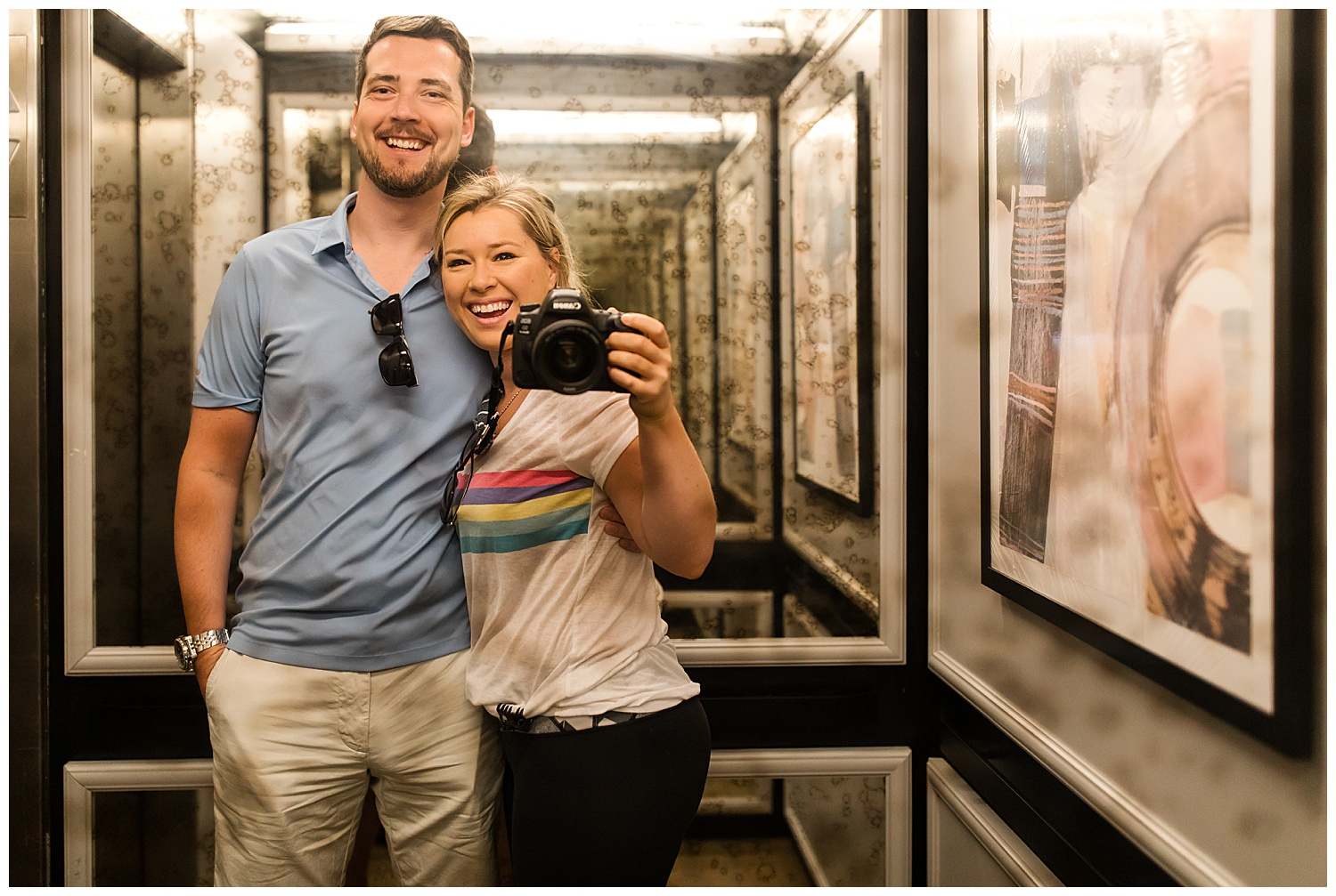 Elevator Selfie;) Stayed at Claridge House in the Gold Coast.