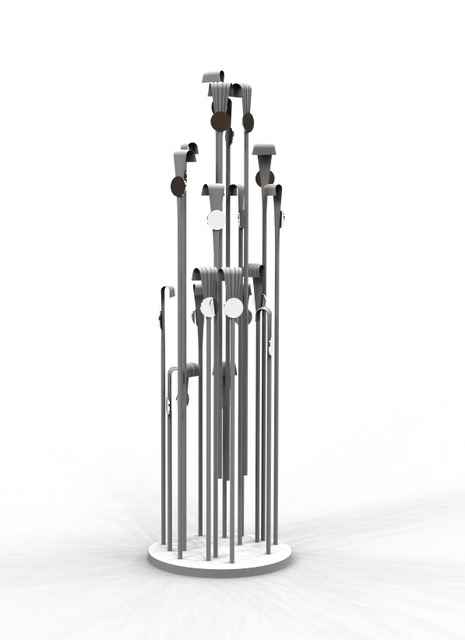 A computer rendering of the finished sculpture