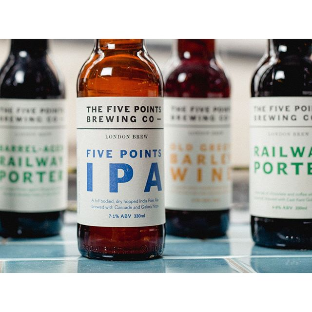 Bottle label design for The Five Points Brewing Company. 📷 @marknewtonphotos ⁣ ⁣ ⁣ ⁣ ⁣ ⁣ #design #graphicdesign #branding #beer #beerdesign #type #typography #fivepoints #thefivepointsbrewingcompany #ipa