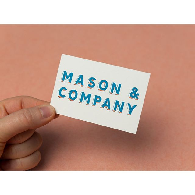 Business card design for Mason & Company       #design #graphicdesign #branding #type #typography #masonandcompany #bar #hackneywick