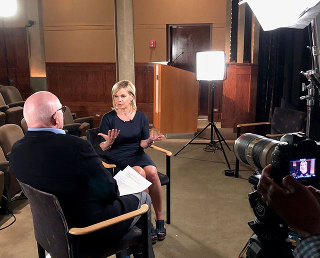 Yesterday at @hbo interviewing the inspiring @therealgretchencarlson! Discussed #MeToo, #MissAmerica, and what it means to #befierce.⠀ ---⠀ #hbo #gretchencarlson #newyork #production #interview #timesup #film #television