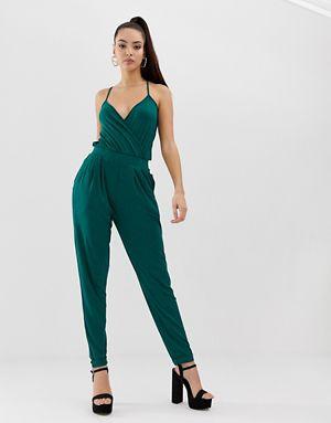 Cami Wrap Front Jersey Jumpsuit