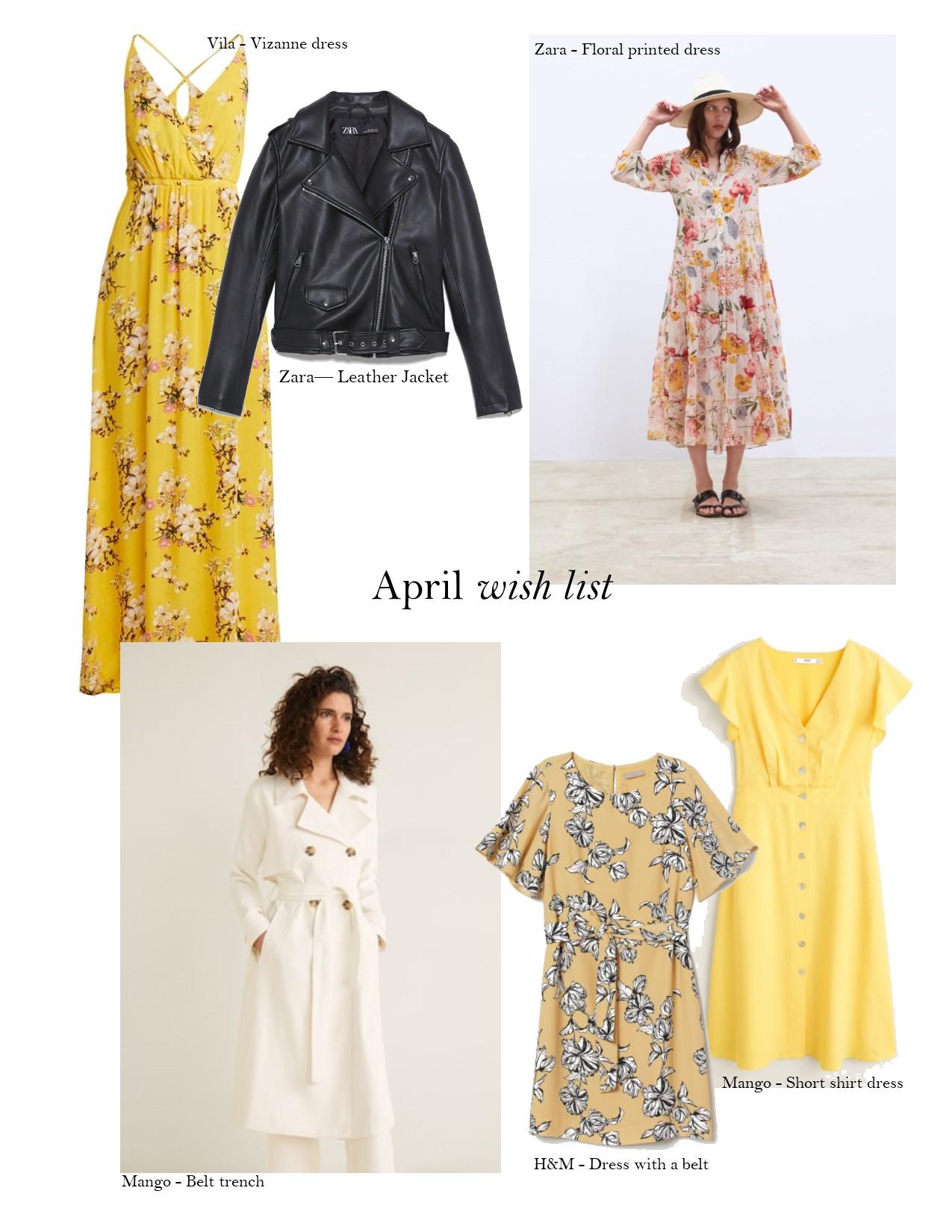 Wish list  April Yellow dress
