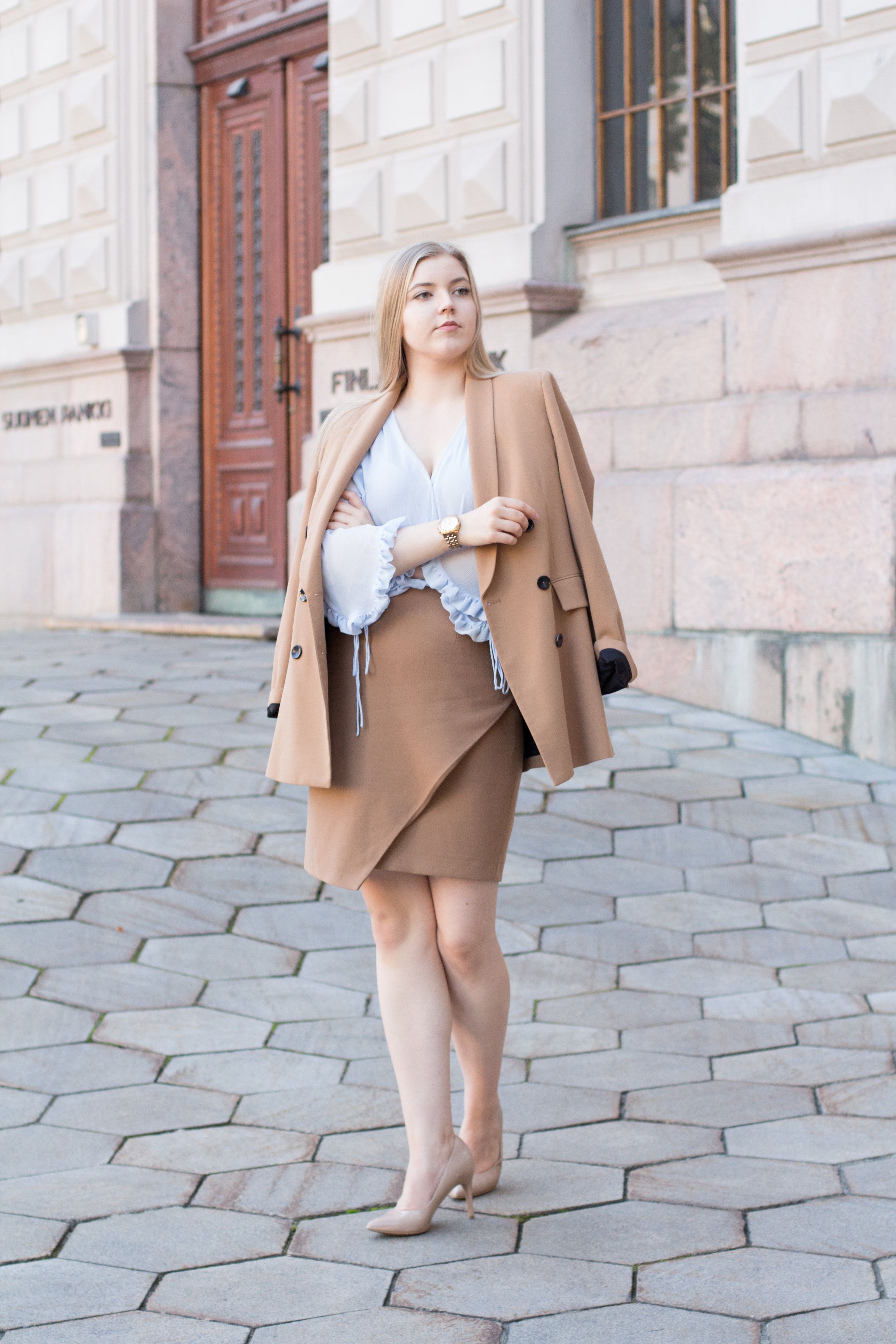 Brown blazer suit with baby blue shirt (1 of 21).jpg
