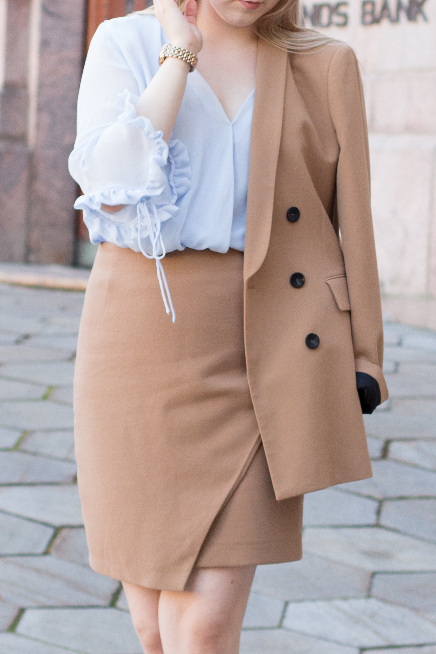 Brown blazer suit with baby blue shirt (9 of 21).jpg