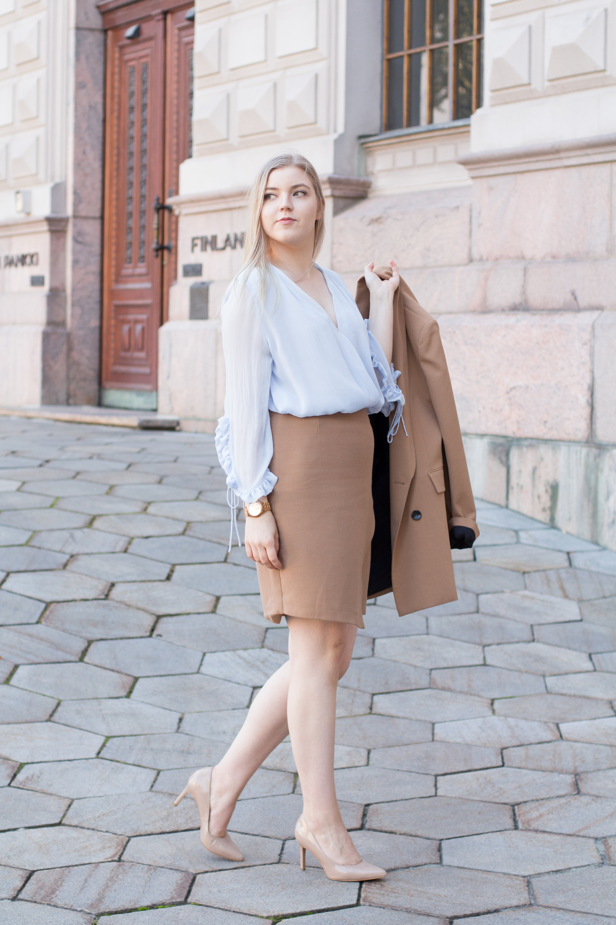 Brown blazer suit with baby blue shirt (11 of 21).jpg