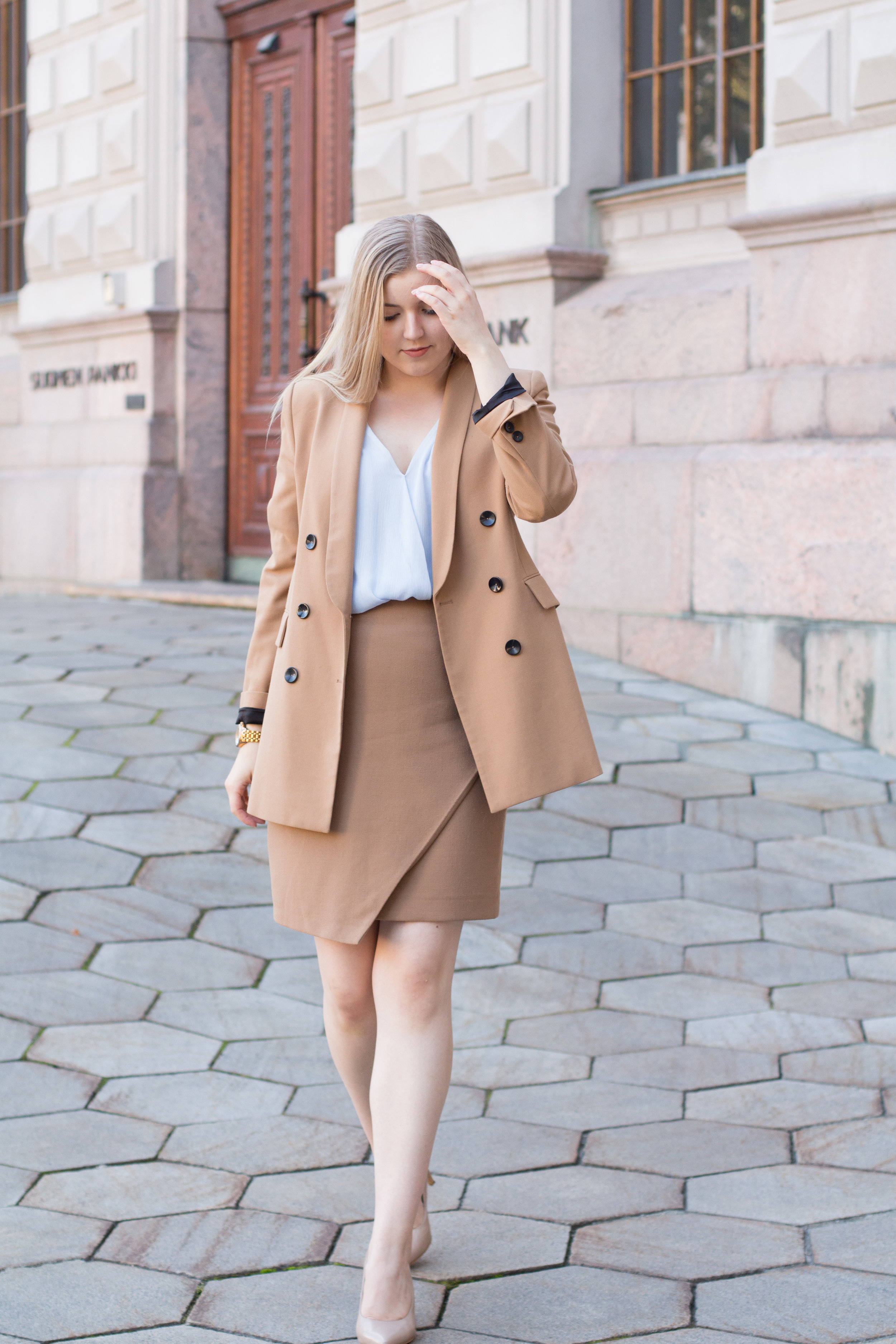 Brown blazer suit with baby blue shirt (13 of 21).jpg