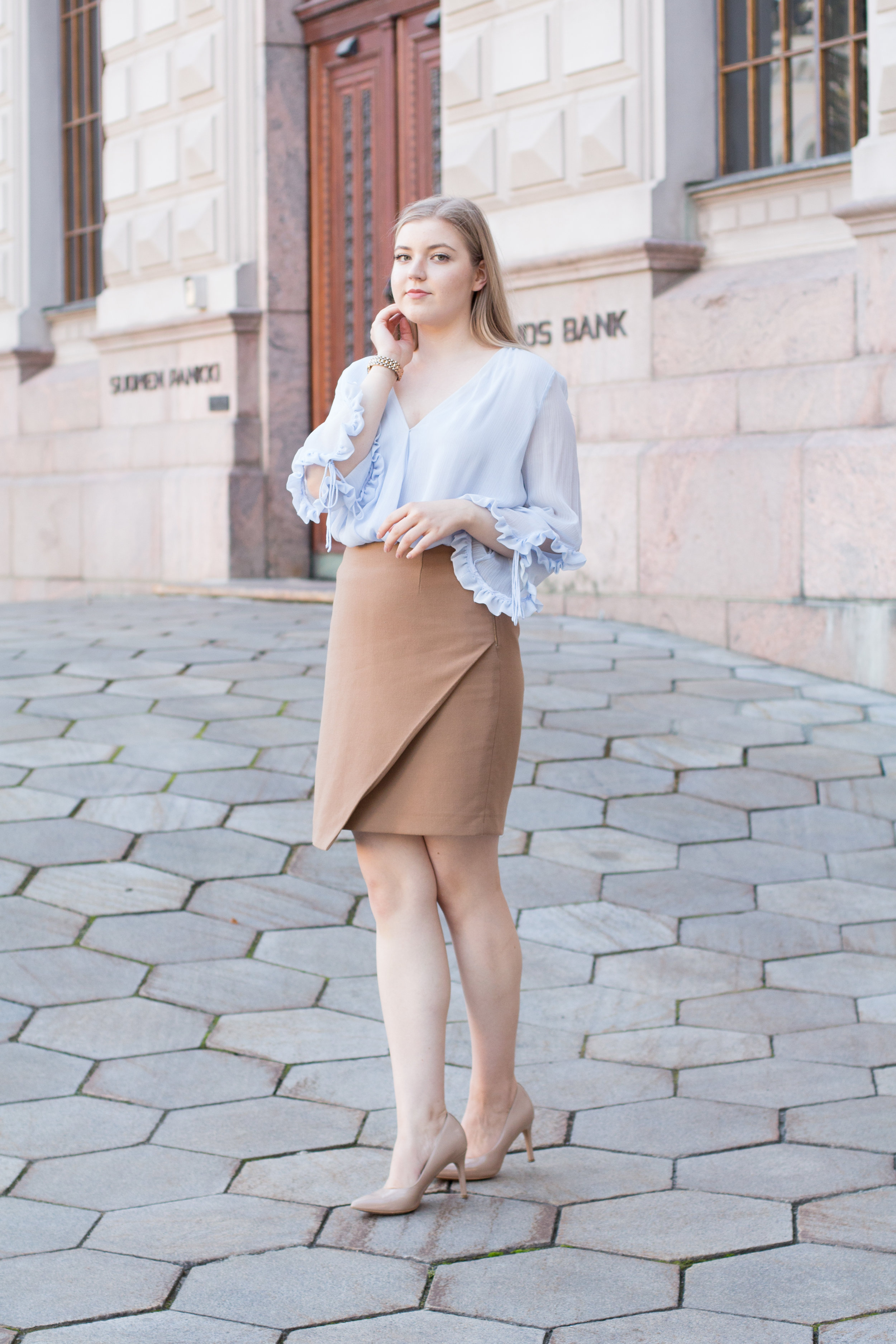 Brown blazer suit with baby blue shirt (16 of 21).jpg