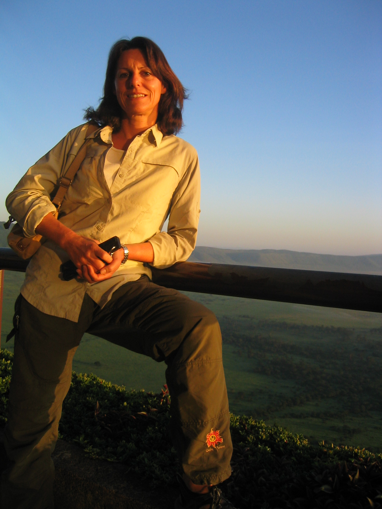 Brigitte at Ngorongoro Crater