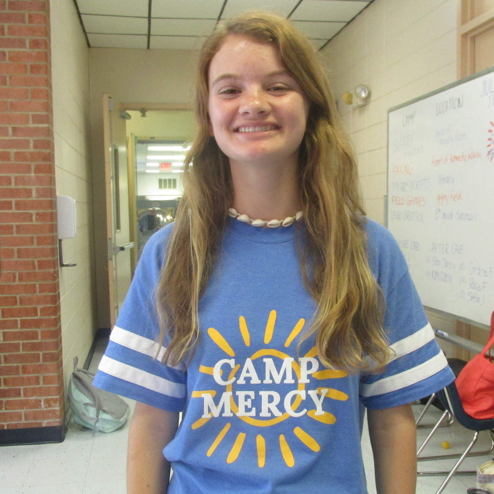 kate clancy - Hi! I'm Kate Clancy, and I'll be a junior at Georgetown Visitation this fall. I have five siblings and love working with kids! I also love baking, singing, and crafting and am so excited to be working at Camp Mercy!
