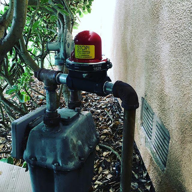 New seismic auto has shut off!#gaswork #plumbing #plumber#dirtyhandscleanmoney #entrepreneurlife