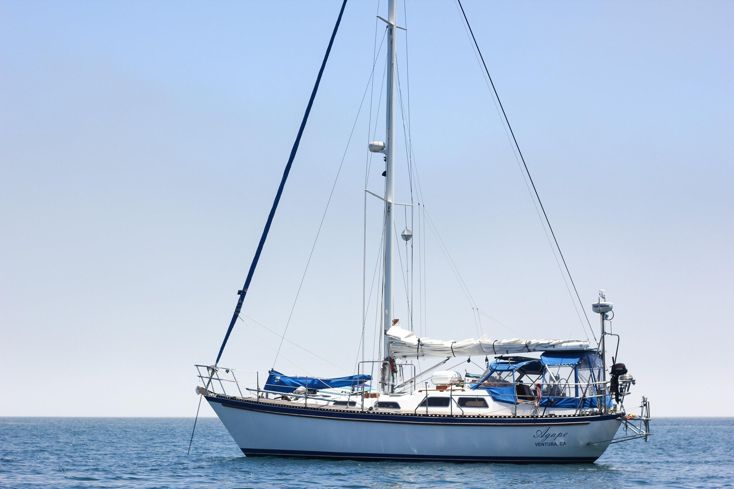 Agape anchored in Scorpion.