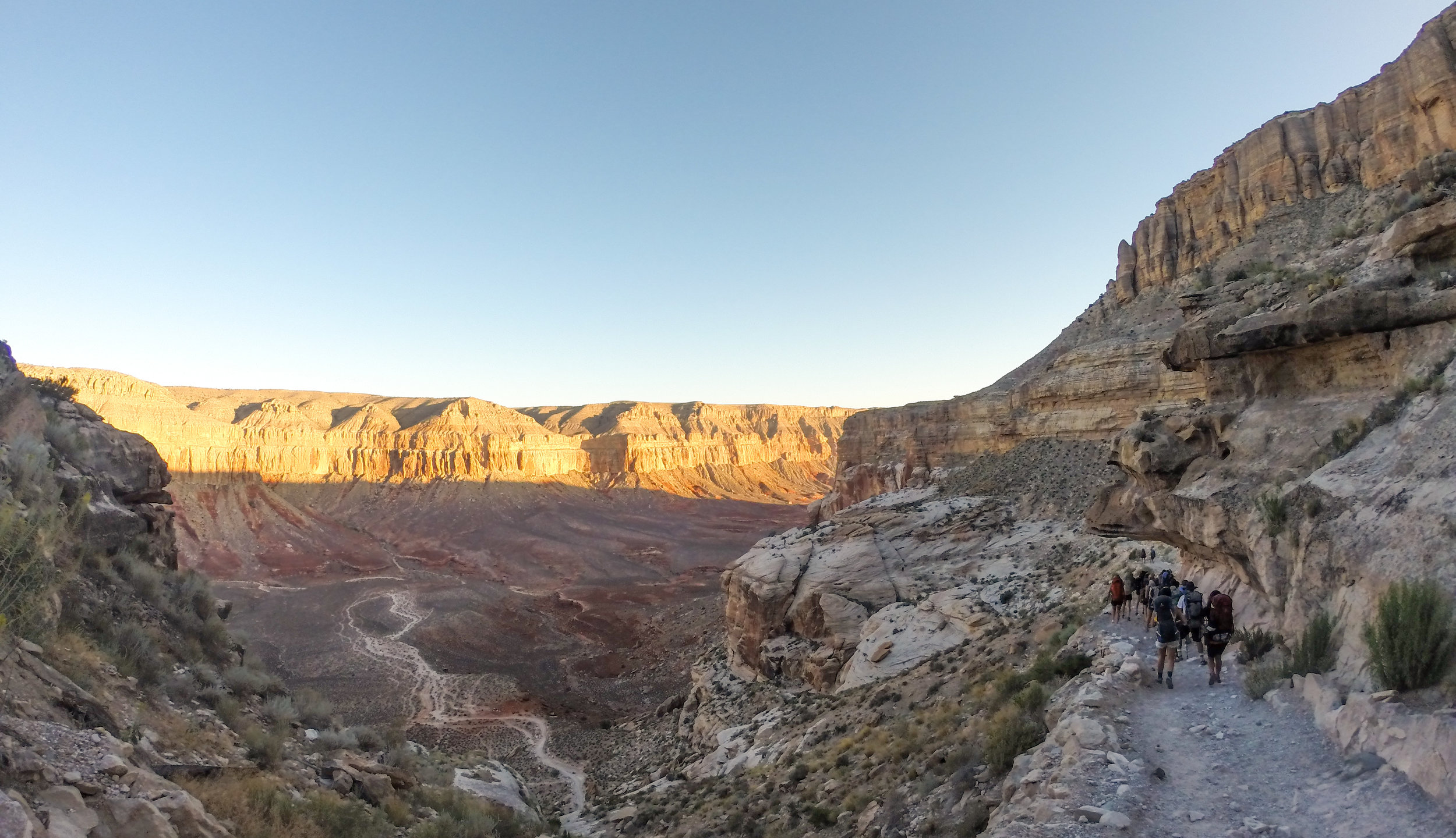 Sunrise in the canyon.