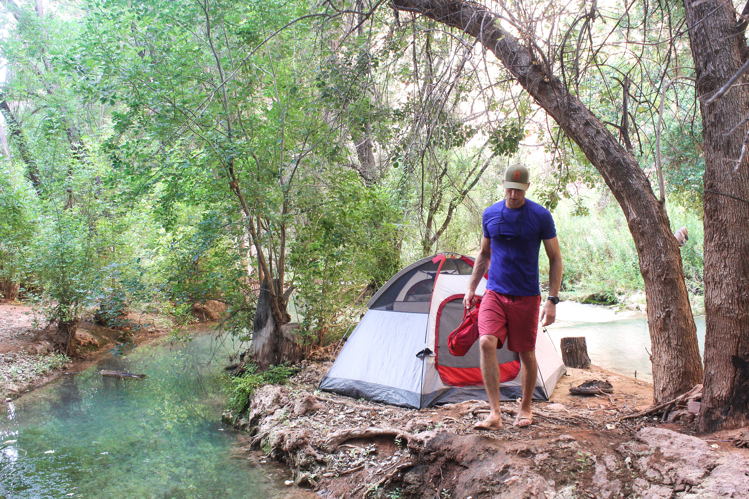 Best campsite ever! Well at least until the flash floods. Read on…