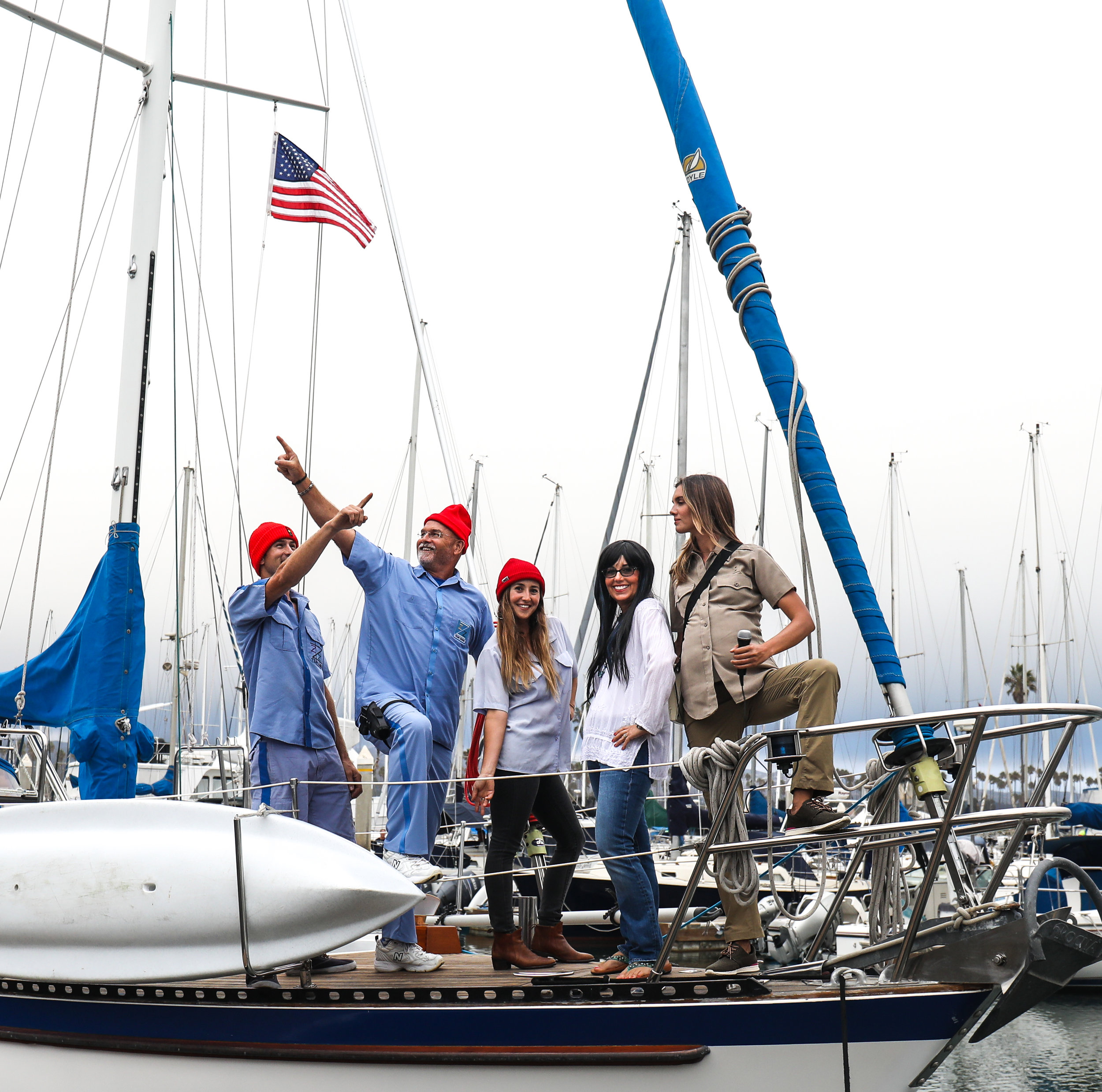My family as the crew from The Life Aquatic!
