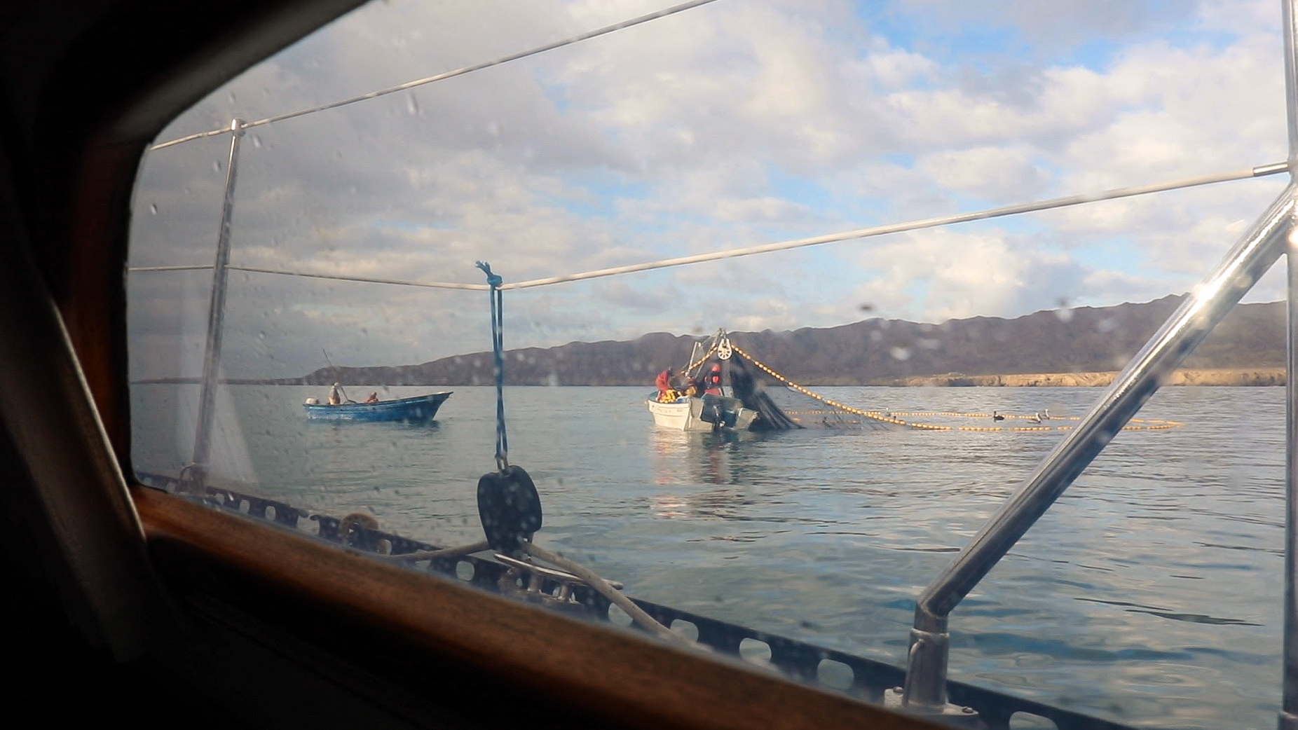 Woke up each morning to the local fishermen fishing near our boat.