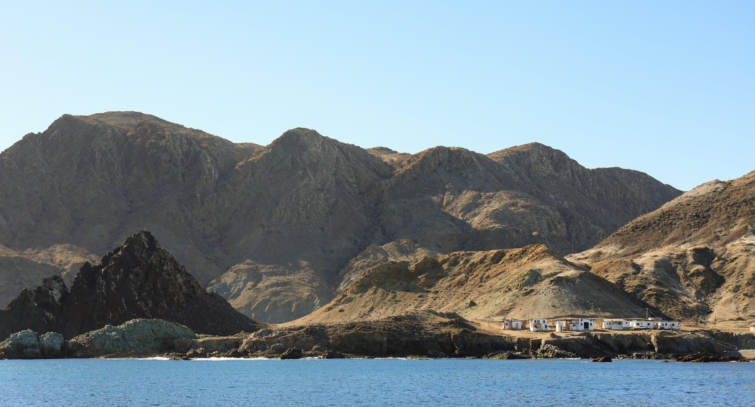 Approaching Cedros Island