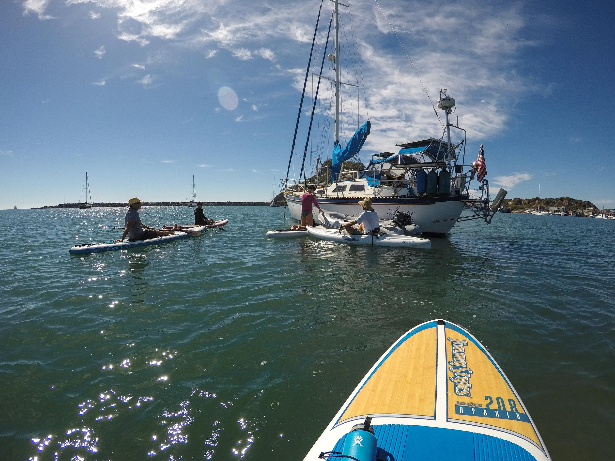 Group paddle.