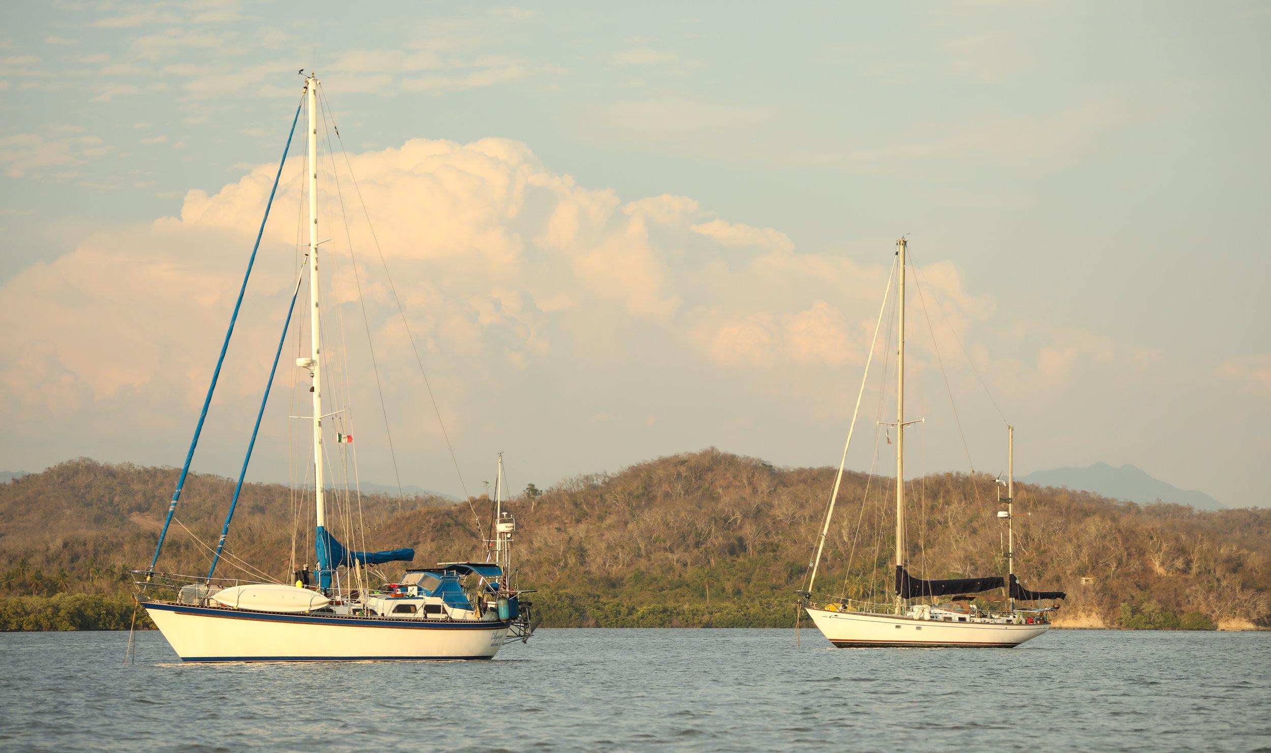 Agape looking good at anchor!