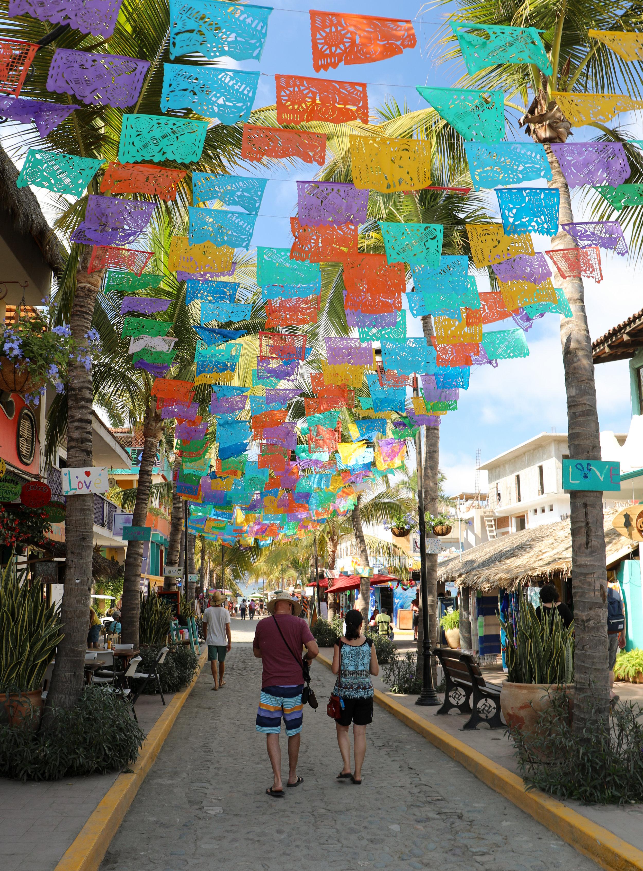 Wandering the colorful streets of Sayulita.
