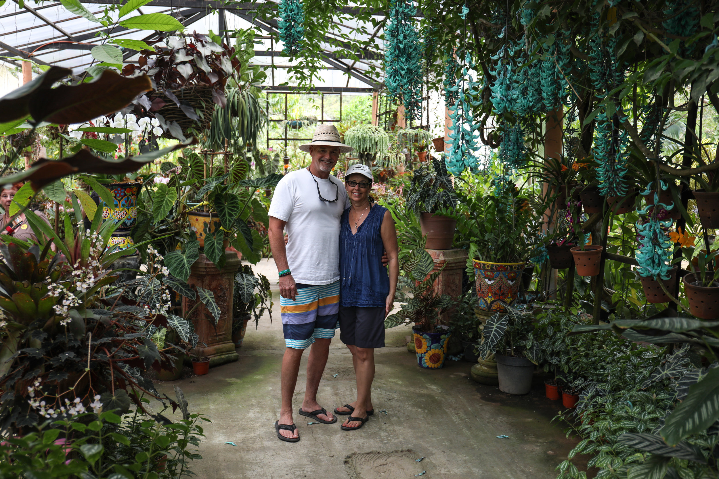 Mom and dad enjoying the beautiful botanical gardens just outside of PV.