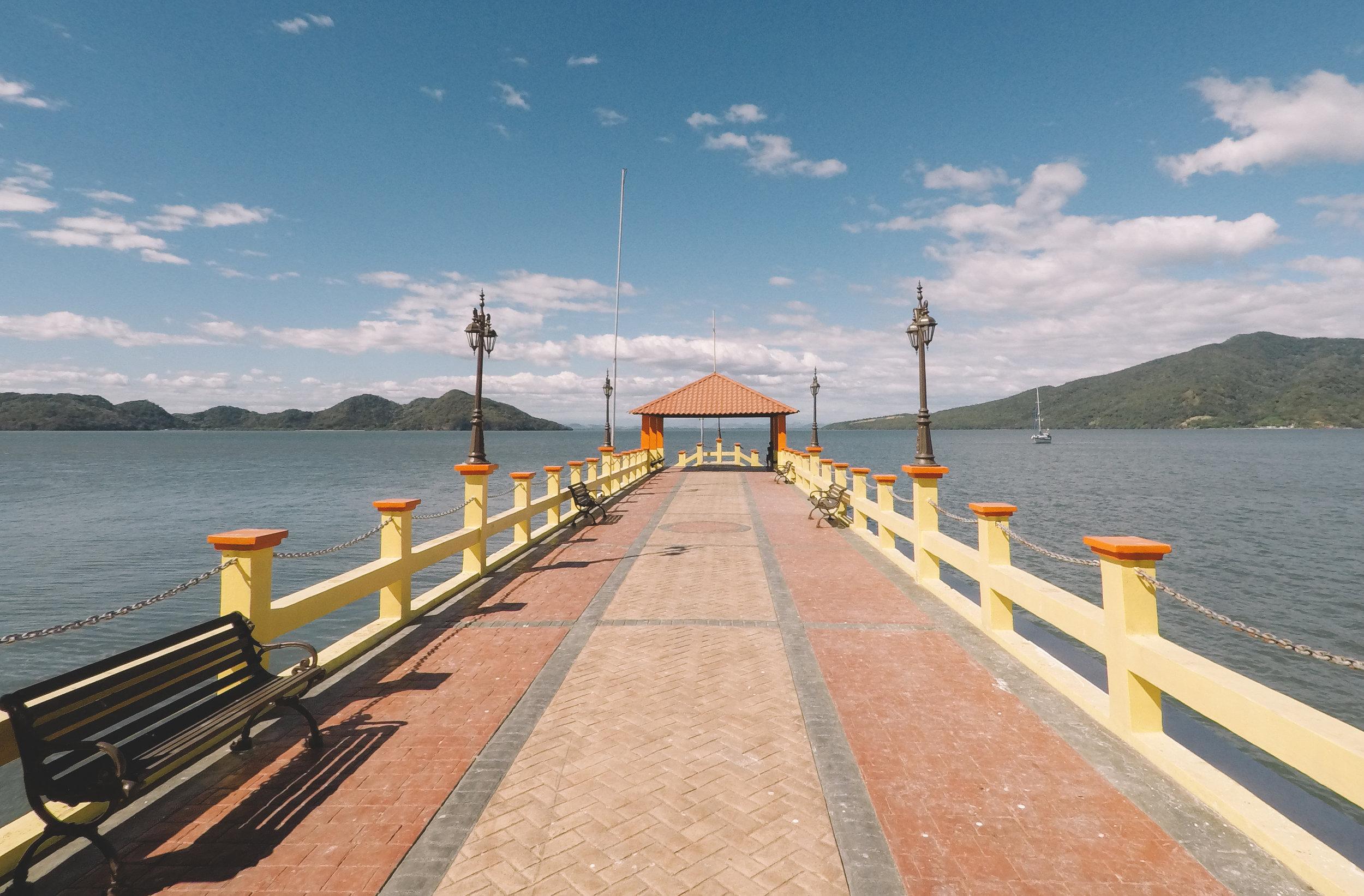 Agape anchored off the pier at El Tigre.