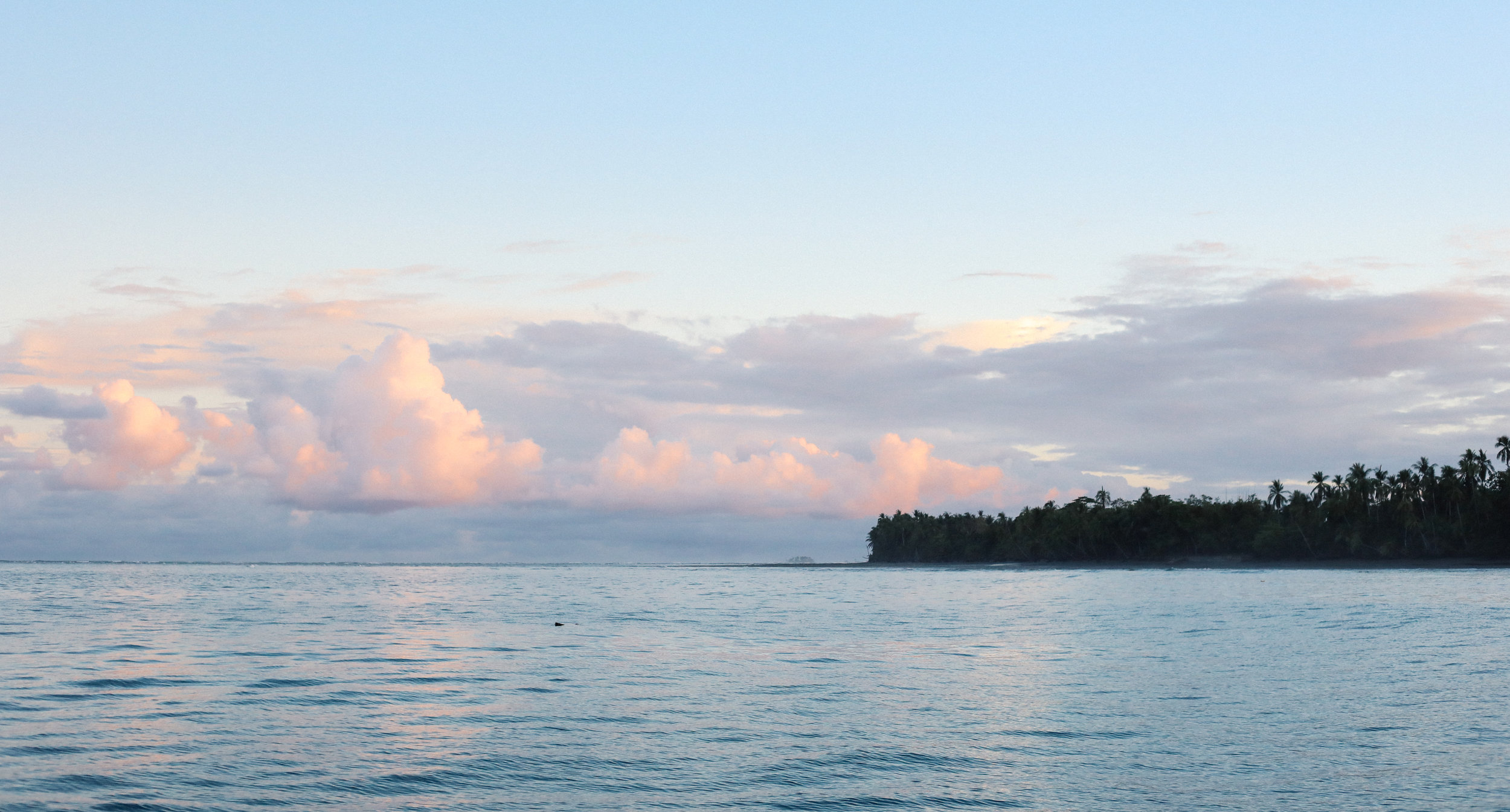 Our anchorage off Punta Balsa, where we'd wait for sunrise to head into Puerto Armuelles and to check into Panama.