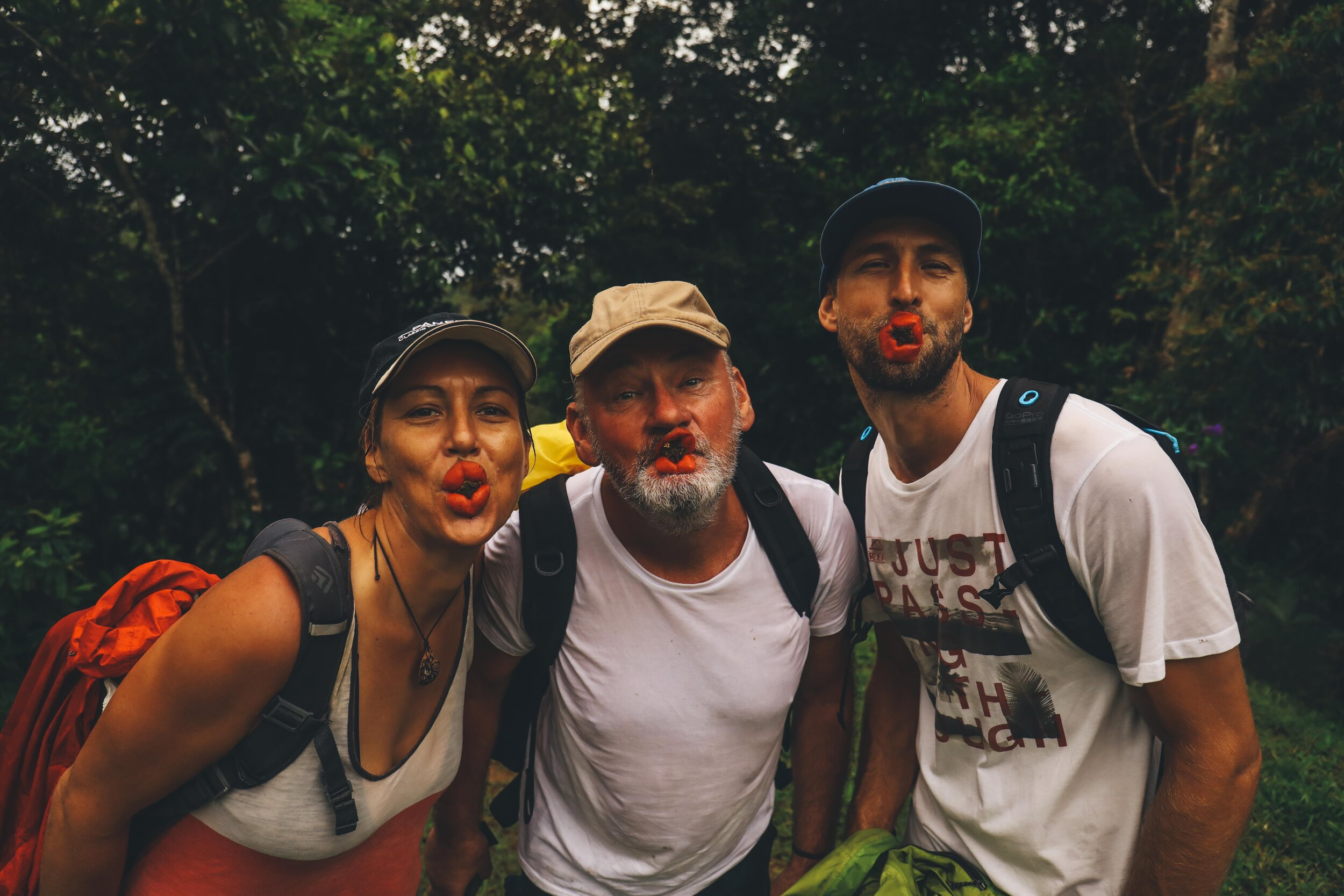Hiking with our friends on S/V Johana and White Shadow.