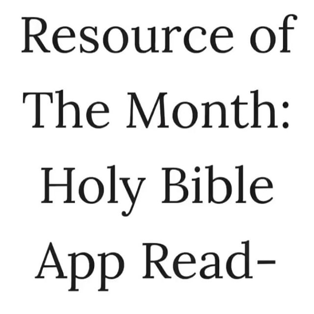 """One of the questions I get the most is, """"what app is that?"""" Usually this comes from when I share my daily bible reading plans from the @youversion bible app in my stories. So I've chosen this as my resource of the month to share in my weekly newsletter, and I love it so much I wrote new blogpost about it on my blog. • • • Tell me what's one of the best bible reading plans you've read? Mine are: God sized goals, Discerning the Voice of God, and Wait and See."""