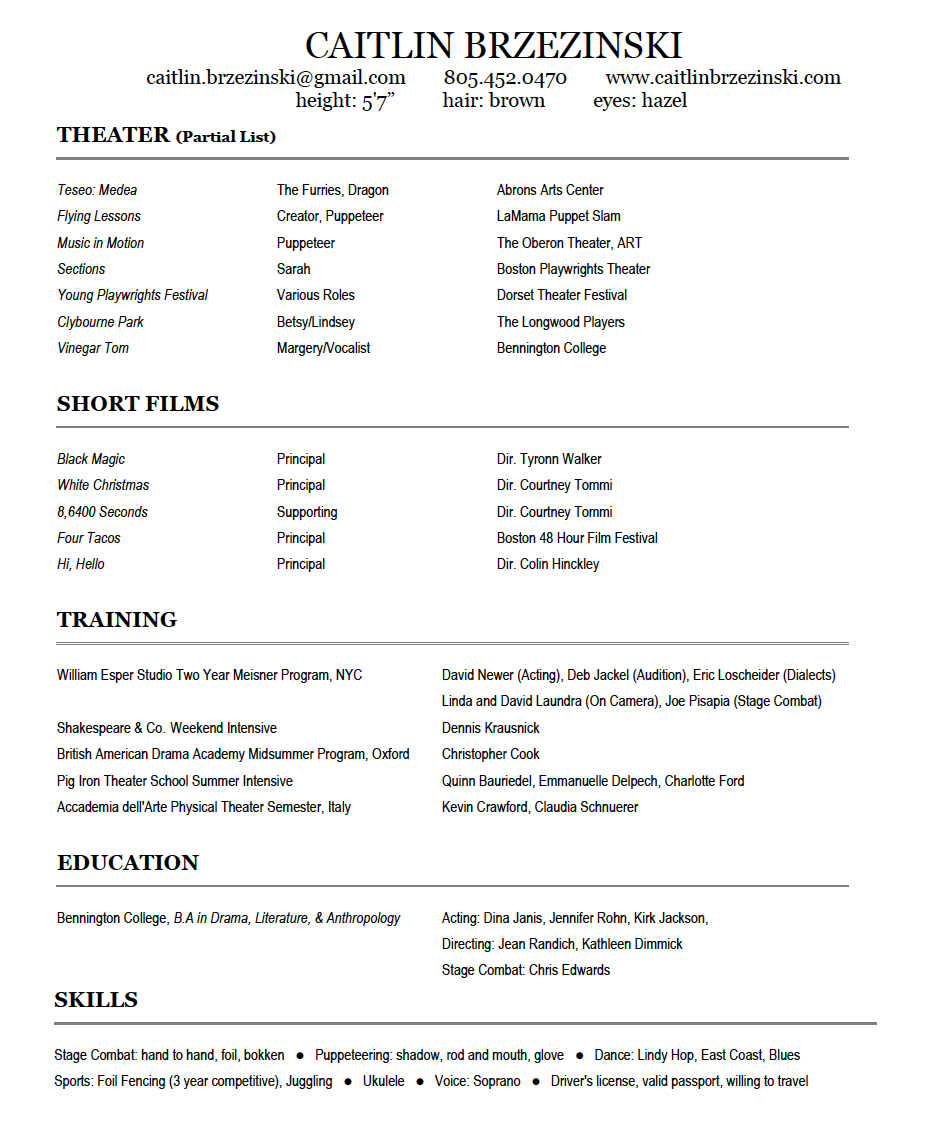 Resume - Click here to view and download