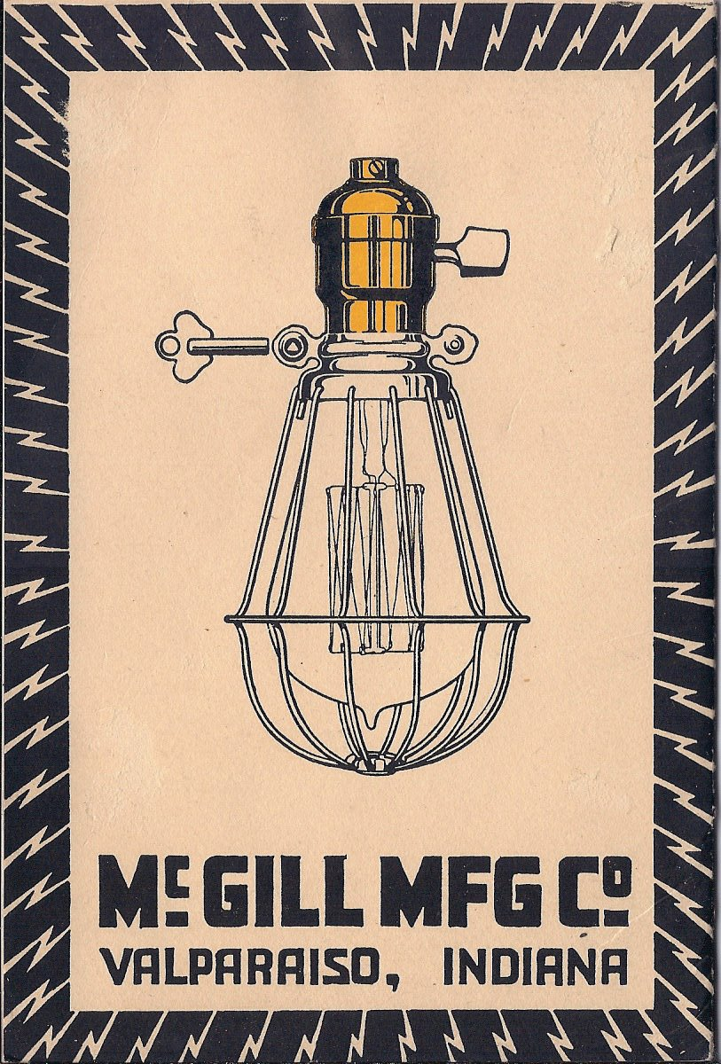 McGill Manufacturing Company Catalog, Back Cover | October 1918