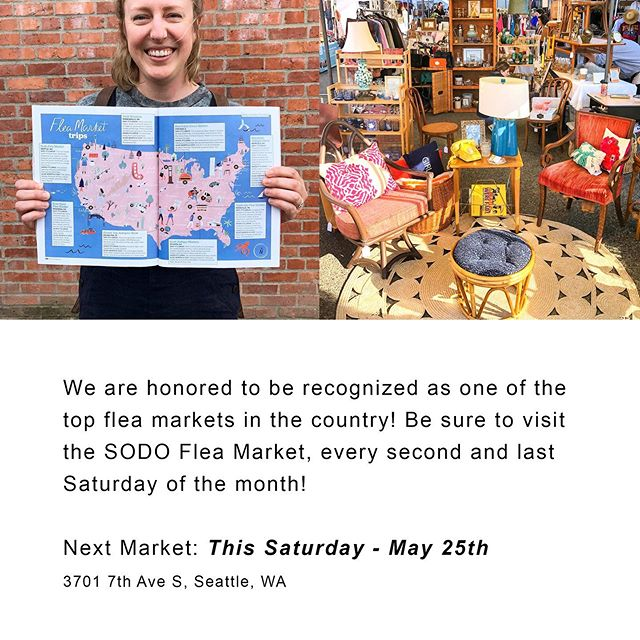 Thank you for making the SODO Flea Market so special! We'll see you at the Market on Memorial Day Weekend! Saturday, May 25th, 10am-4pm at @epicantique. 2019 Market dates: May 25, Jun 8, Jun 29, July 13, Jul 27, Aug 10, Aug 31, Sep 14, Sep 28, Oct 12, Oct 26, Nov 9, Nov 30 • • • • • #sodoflea #sodofleamarket #seattleshopping #seattleboutiques #shoplocalseattle #seattlemade #seattle #seattlewa #seattlevintage #fleamarket #fleamarketfinds #vintageclothing #vintagefinds #pnwvintage #shoplocal #curratedcollection #shopsmallbusinesses #alltheprettythings #makersmake #handmaderevolution #vintagestyle #thriftfinds #pnwfleamarket #seattleweekend #visitseattle
