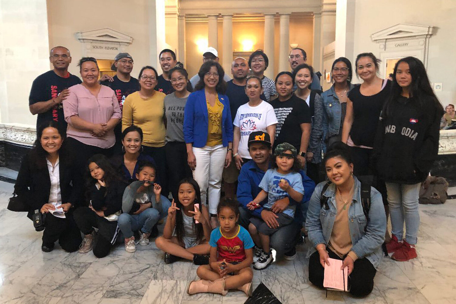 Organizers and advocates gather at Oakland City Hall and successfully pass resolution to condemn detention and deportation of Bay Area Cambodians.