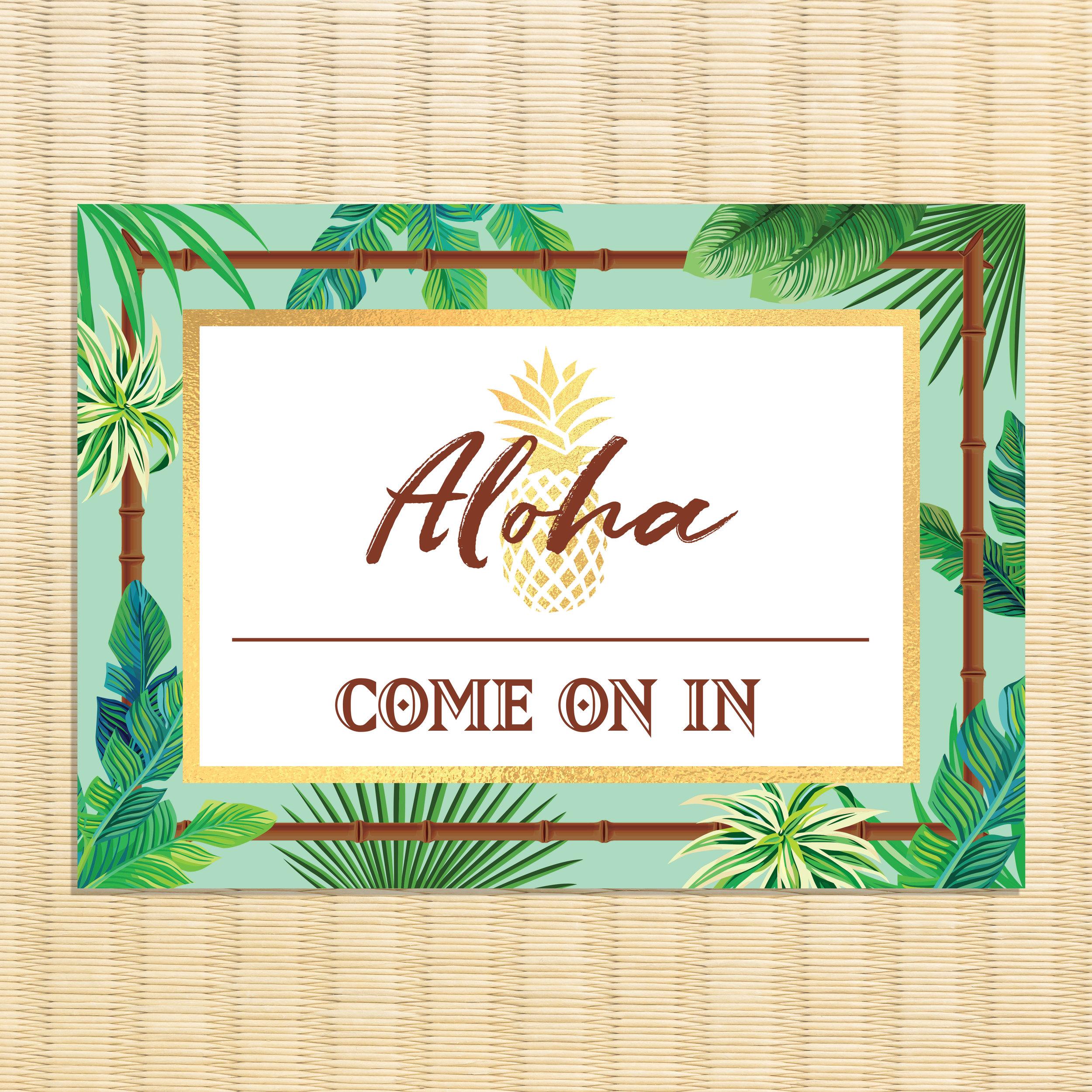 Aloha Welcome Sign