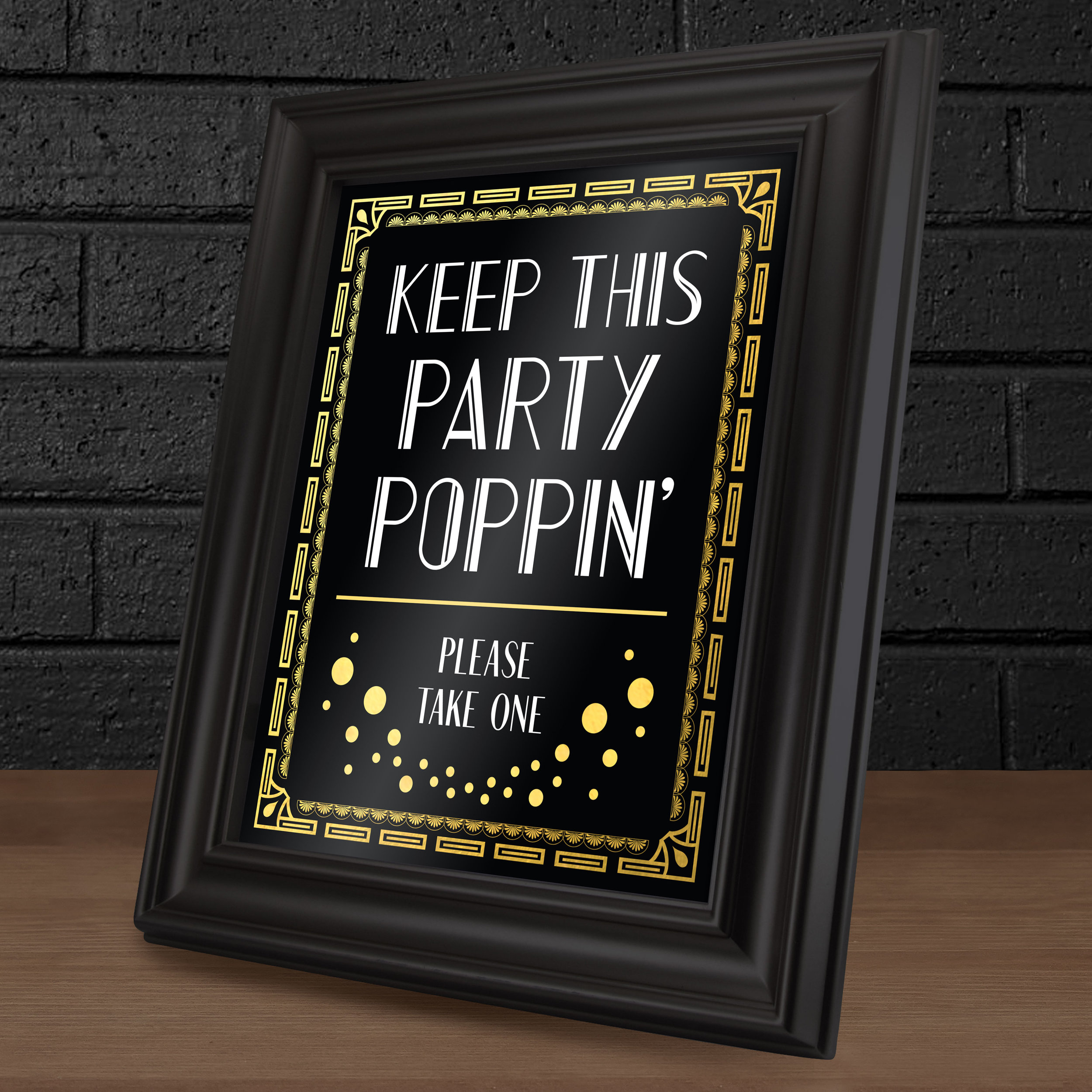 Champagne Table Sign