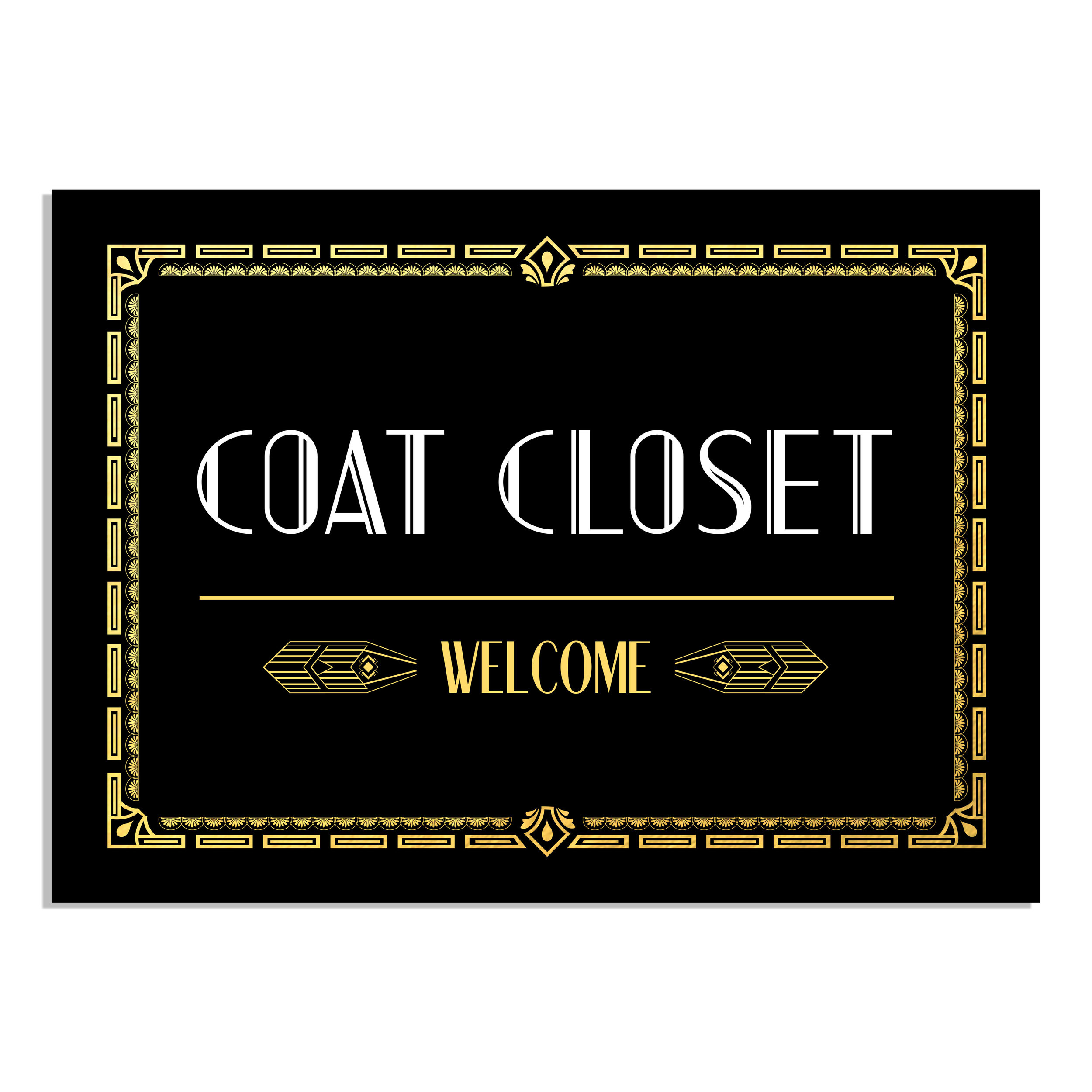 Coat Closet Sign