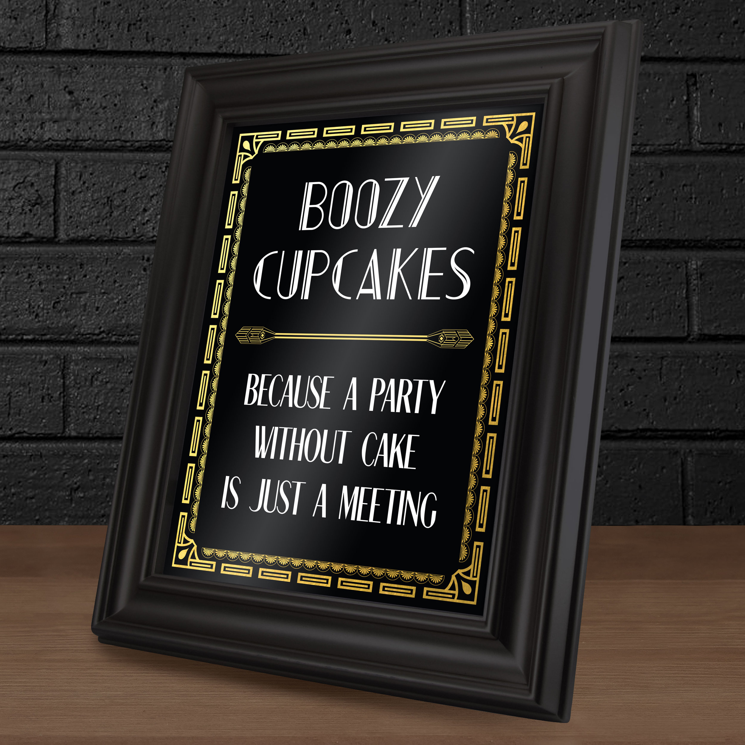 Cupcake Table Sign