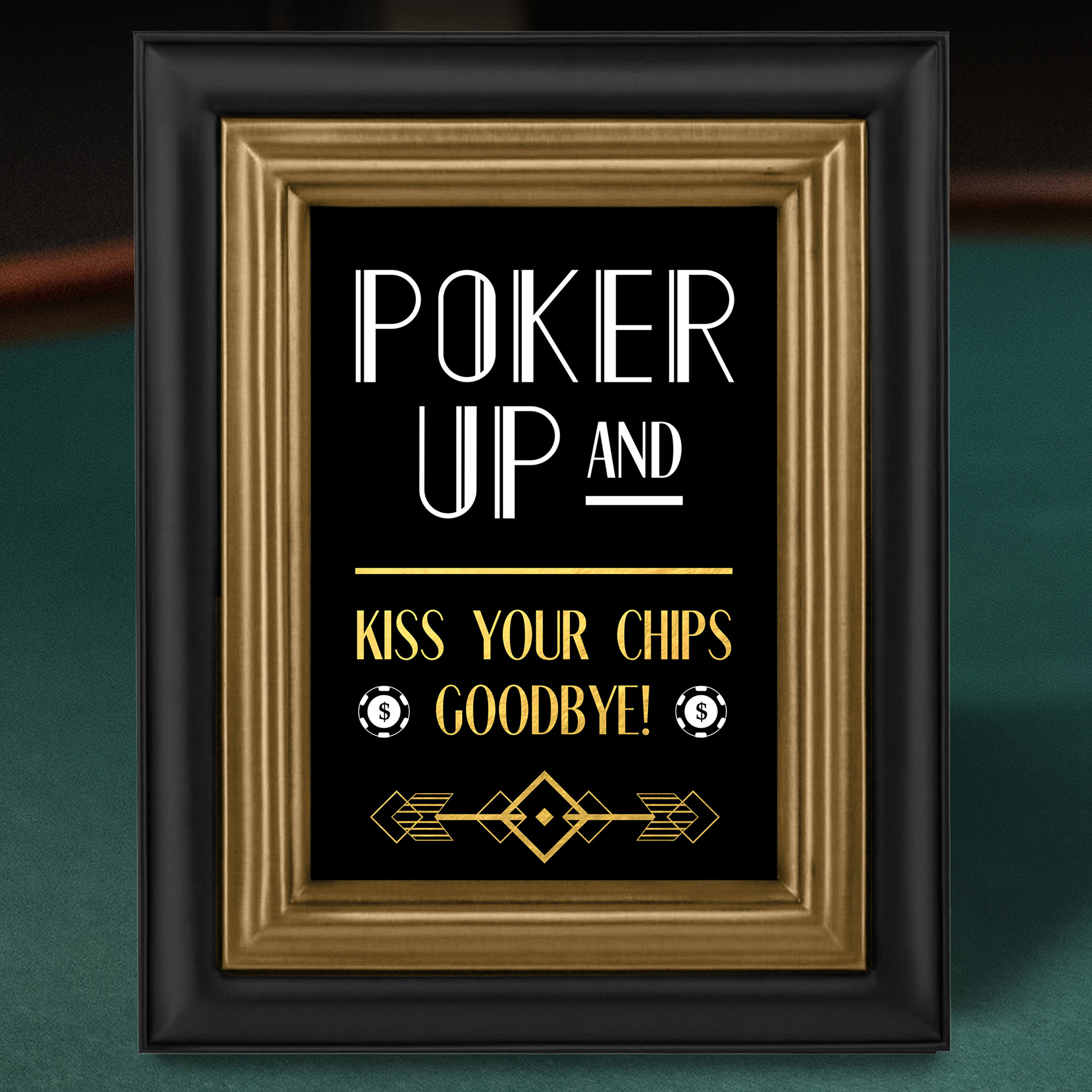 Poker Table Sign