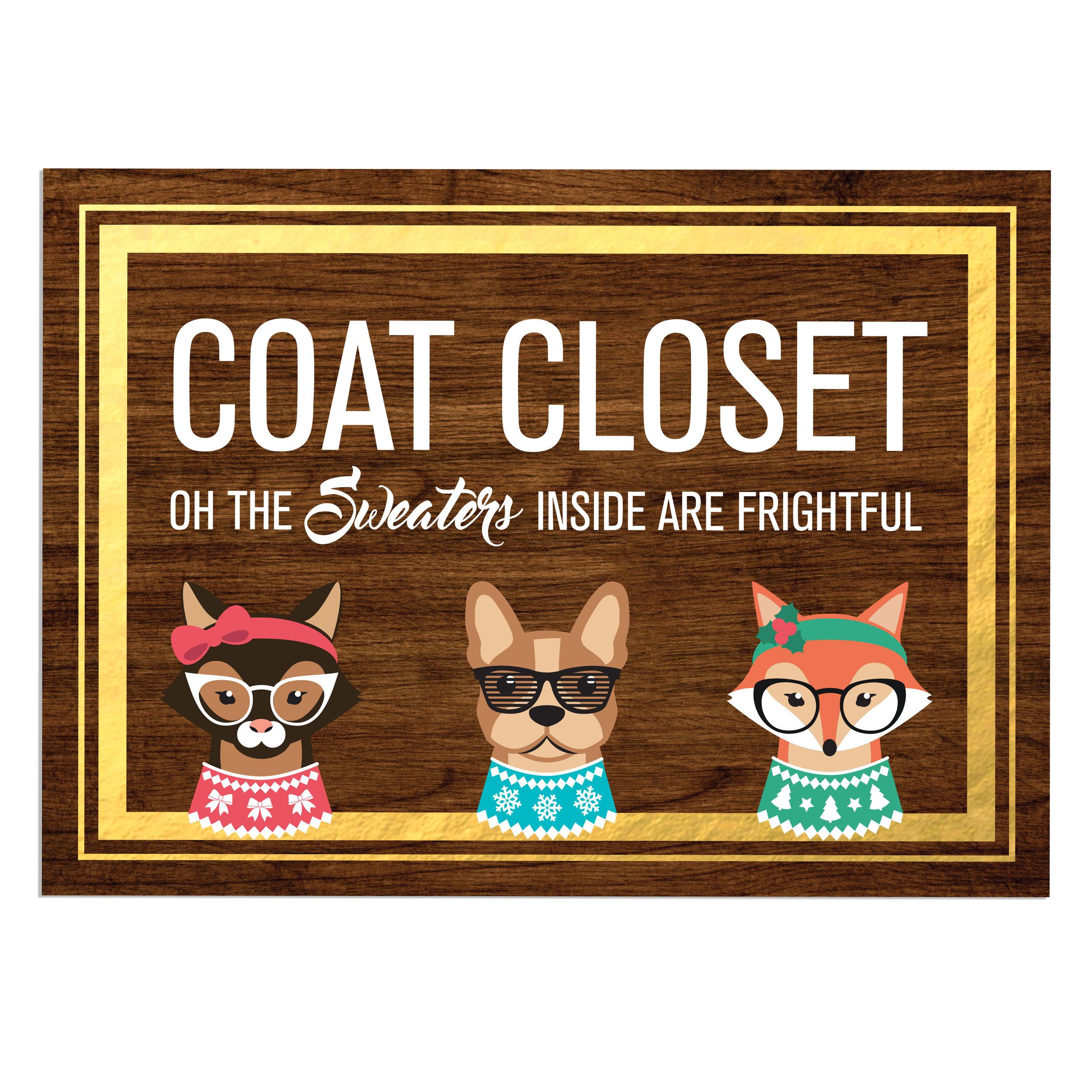 Coat Closet Sign